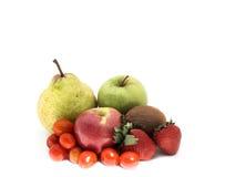 Fruta y veg aislados Imagen de archivo libre de regalías