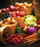 Fruta y veggies fotos de archivo