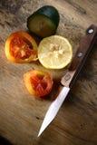 Fruta y verdura cortada Imagenes de archivo