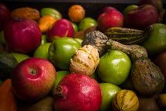 Fruta y verdura de la caída Fotografía de archivo