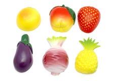 Fruta y verdura en blanco Fotos de archivo