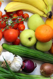 Fruta y verduras Imágenes de archivo libres de regalías