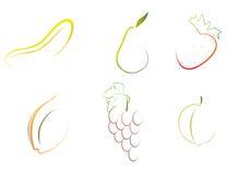 Frutas abstratas ilustração royalty free