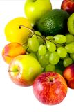Frutas aisladas Imágenes de archivo libres de regalías