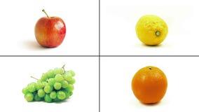 Frutas aisladas almacen de video
