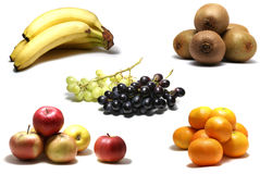 Frutas aisladas en blanco Fotos de archivo libres de regalías