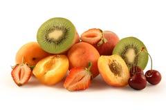 Frutas aisladas en blanco Imagen de archivo libre de regalías