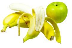 Frutas aisladas en blanco Fotografía de archivo