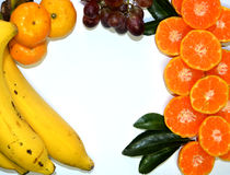 Frutas aisladas en el fondo blanco Fotografía de archivo