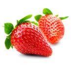 Frutas aisladas - fresas Foto de archivo