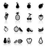 Frutas ajustadas ícones Fotos de Stock Royalty Free
