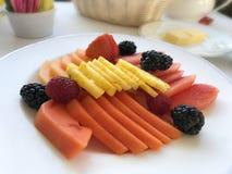 Frutas ajustadas Fotografia de Stock