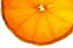 Frutas alaranjadas cortadas em detalhe Fotos de Stock
