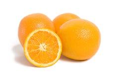 Frutas alaranjadas do citrino isoladas no branco Fotografia de Stock
