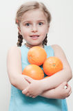 Frutas alaranjadas frescas Imagem de Stock Royalty Free