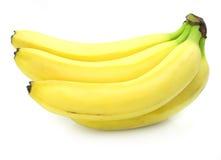 Frutas amarillas del plátano aisladas foto de archivo libre de regalías