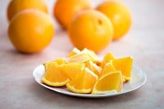 Frutas anaranjadas Foto de archivo libre de regalías