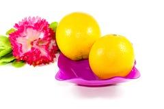 Frutas anaranjadas frescas Fotografía de archivo libre de regalías