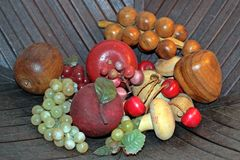 Frutas artificiais imagens de stock royalty free