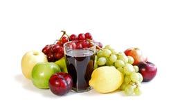 Frutas Assorted no branco Imagens de Stock Royalty Free