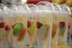 Frutas, bebidas y vitaminas Imagen de archivo