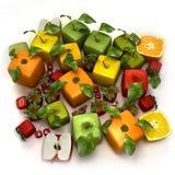 Frutas cúbicas frescas Imagens de Stock