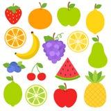 Frutas Clipart Fotografía de archivo
