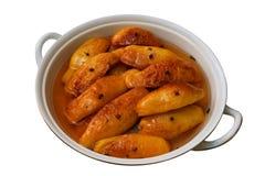 Frutas cocinadas del membrillo aisladas Foto de archivo libre de regalías