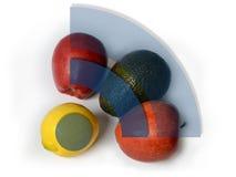 Frutas como concepto de la conexión de WiFi Fotografía de archivo libre de regalías