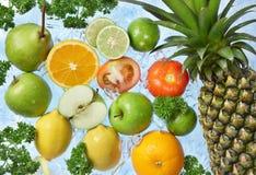 Frutas congeladas imagens de stock