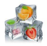 Frutas congeladas Fotos de archivo libres de regalías