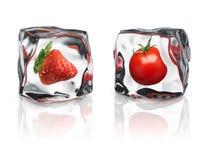 Frutas congeladas Fotografia de Stock Royalty Free