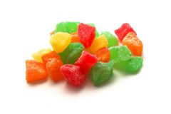 Frutas cristalizadas Imagens de Stock Royalty Free