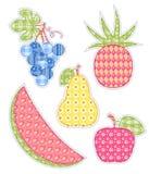Frutas da aplicação ajustadas. Imagens de Stock Royalty Free