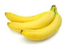Frutas da banana isoladas no fundo branco fotografia de stock