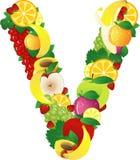 Frutas de Alphabatical Imagenes de archivo