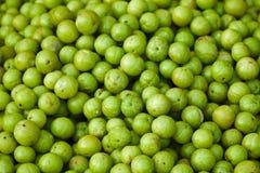 Frutas de Amla en mercado libre indio imagen de archivo libre de regalías