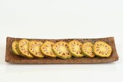 Frutas de Bael Marmelos L de Aegle Fotografía de archivo libre de regalías