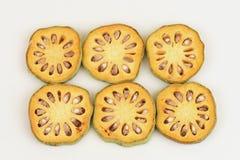 Frutas de Bael Marmelos L de Aegle Fotos de archivo
