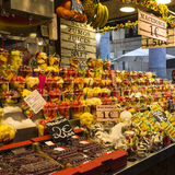 Frutas de Barcelona Boqueria Imagen de archivo libre de regalías
