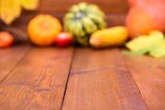 Frutas de la calabaza como la decoración y fondo Foto de archivo libre de regalías