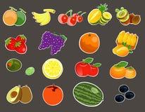 Frutas de la historieta fijadas Fotos de archivo