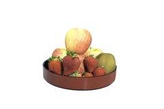 Frutas de la mezcla en bandeja profunda Foto de archivo