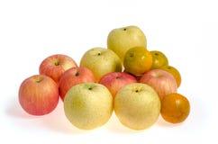 Frutas de la mezcla: Trayectoria de recortes incluida Imagen de archivo libre de regalías