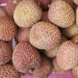 Frutas de los lichis imagen de archivo