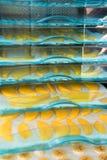 Frutas de sequía en la secadora foto de archivo