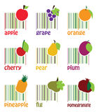 Frutas del código de barras Foto de archivo libre de regalías