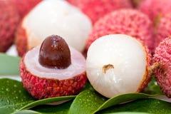 Frutas del lichí Fotografía de archivo libre de regalías