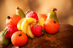 Frutas del mazapán imágenes de archivo libres de regalías