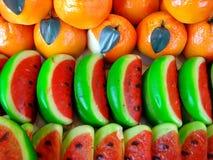 Frutas del mazapán Imagenes de archivo